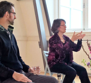 Susan Gillis Chapman and Greg Heffron teach at the Center for Mindfulness (Amsterdam)