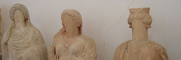 faceless stone female busts