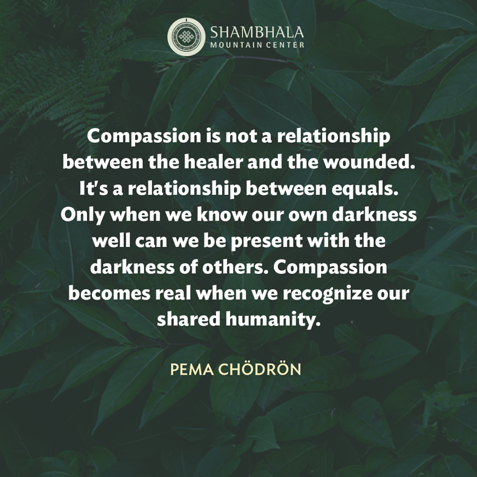 Compassion is a Relationship of Equals